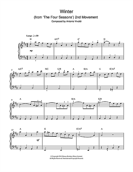 Winter from The Four Seasons (Second movement: Largo)