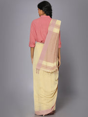 Earthy pink soft cotton saree