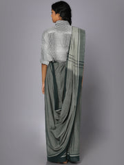 Grey mangalgiri cotton saree