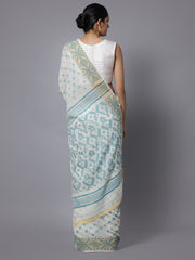 Jamdani white bengal handloom cotton saree