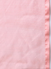 Pink Handloom Jamdani Cotton Silk Saree