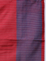 Blue Pochampally Ikat Handloom Cotton Saree