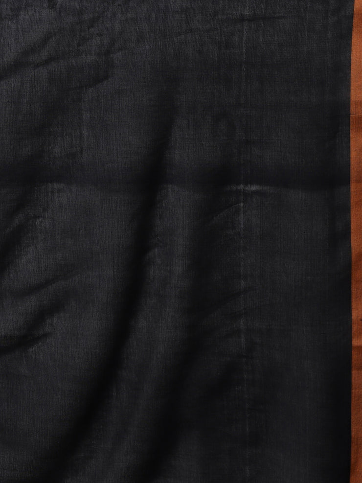 Navy jamdani cotton bengal handloom saree