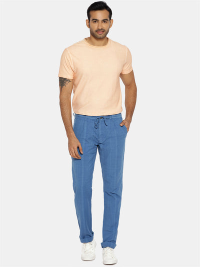 Cobalt blue natural dye trouser