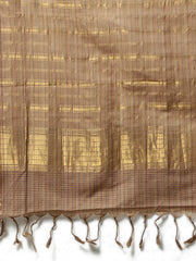 Brown mangalagiri handloom cotton saree