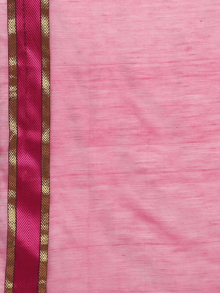 White silk cotton maheshwari saree