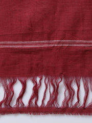 Maroon Kotpad Handloom Cotton Saree