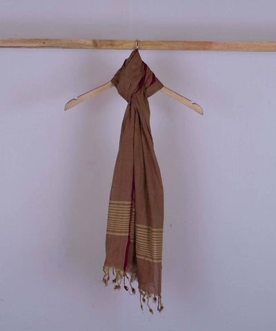 Rust handwoven cotton stole