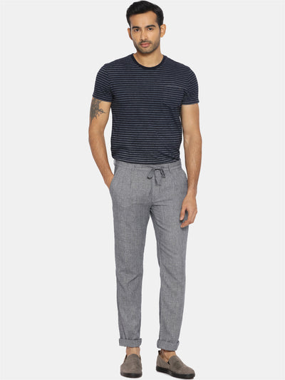 Charcoal grey drawstring handwoven trouser