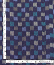 handwoven multicolour checkered ikat fabric