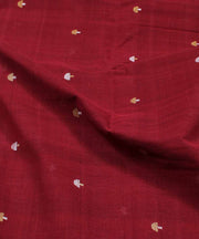 red maroon handloom cotton natural dye fabric