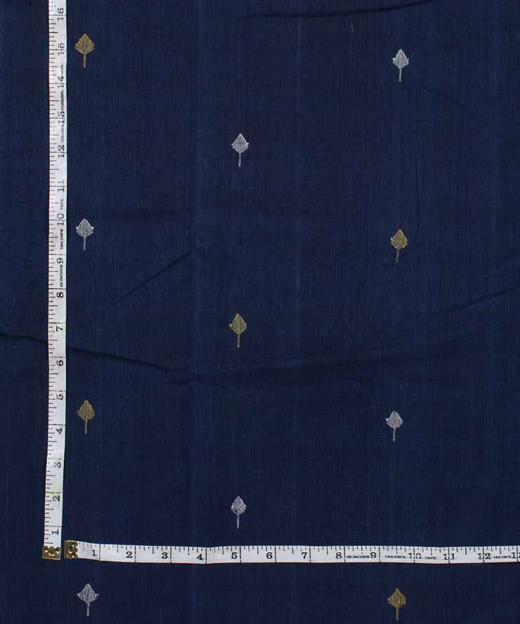 navy blue handloom cotton natural dyed fabric