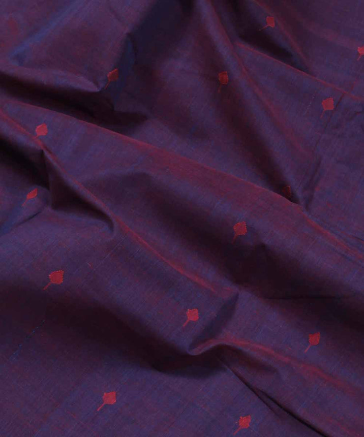 purple pink handloom natural dyed fabric