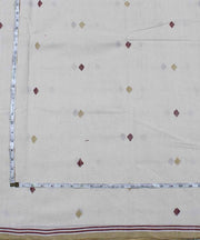 off white diamond motif handloom fabric