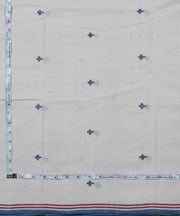 abstract motif off white handloom fabric