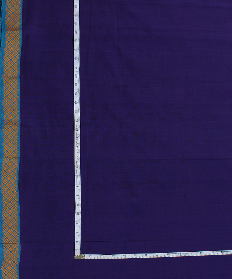 Handloom Cotton Navy Blue Fabric