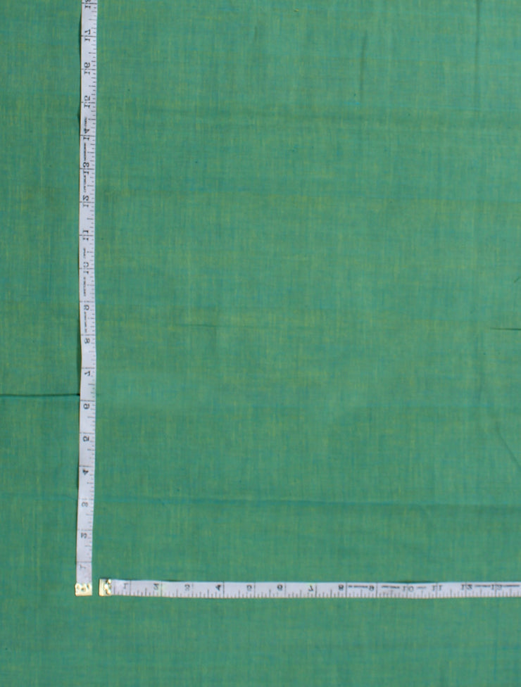 Aqua green Handloom Cotton Fabric