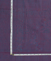 Blue Purple Handloom Cotton Fabric