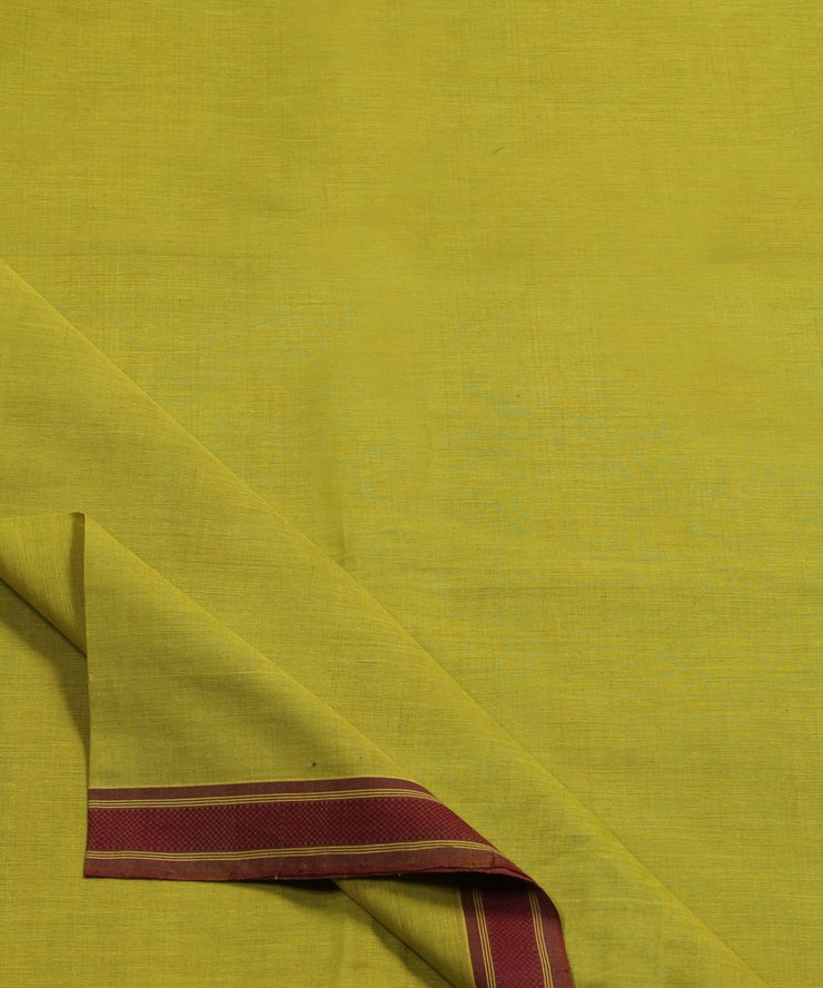 light green handloom cotton fabric