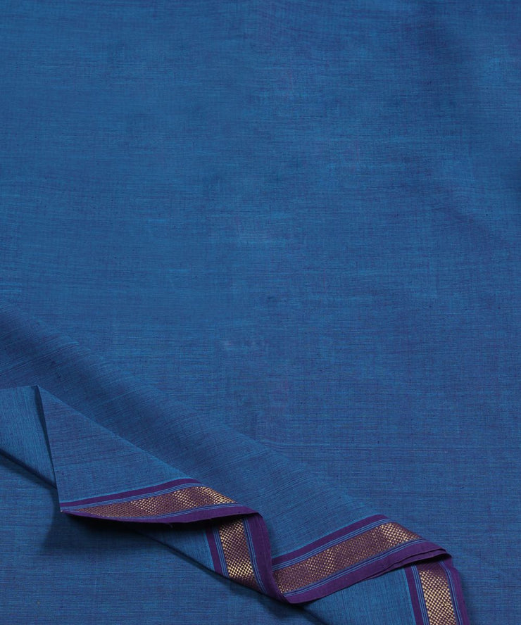cobalt blue handloom cotton fabric