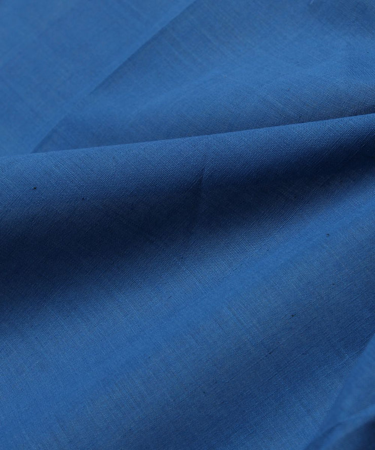 handloom cobalt blue cotton fabric