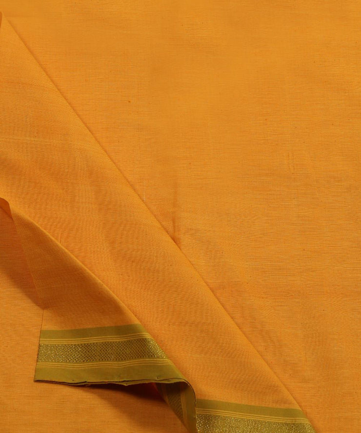 yellow handloom cotton fabric