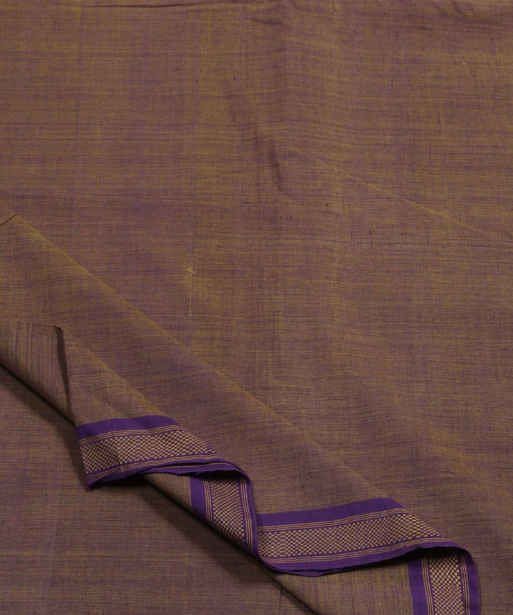 mauve handloom cotton fabric