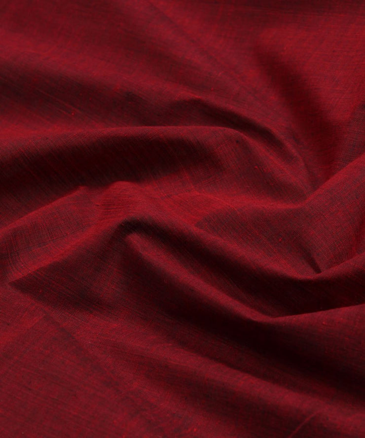 maroon handloom cotton fabric