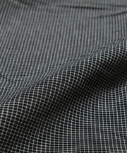 black checks handloom cotton fabric