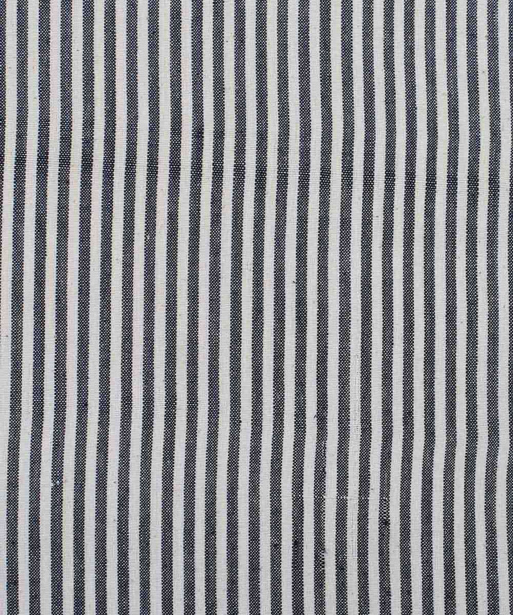 handloom black white handspun cotton fabric