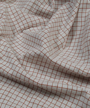 brown checks handspun handloom stripe fabric