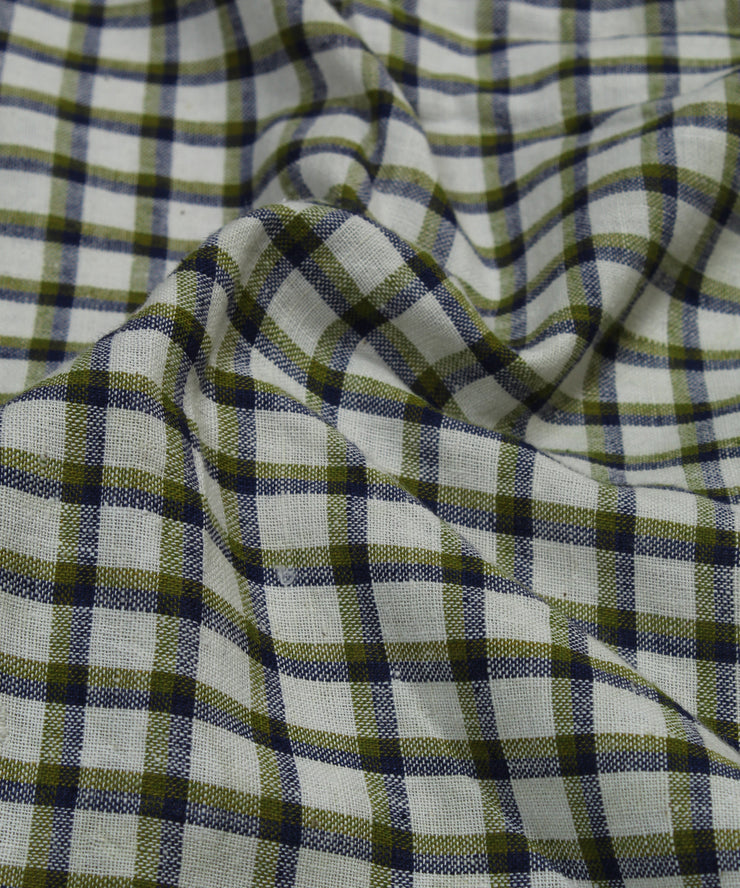 checks handloom handspun cotton fabric