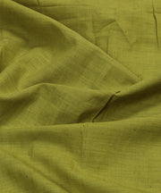 green handloom handspun cotton fabric