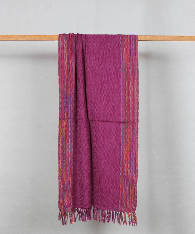 purple handwoven woolen stole