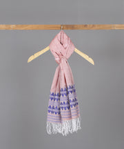 Purple motif traditional assam stole