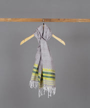 Beige Assam stole with yellow motif