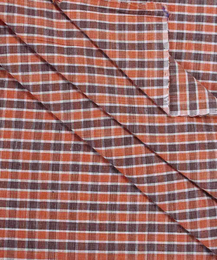 multicolor checks handloom cotton fabric