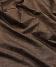 brown handloom mangalagiri cotton fabric