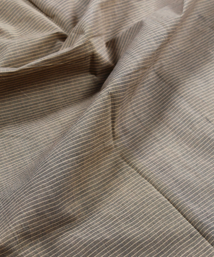 handloom brown stripe mangalagiri fabric
