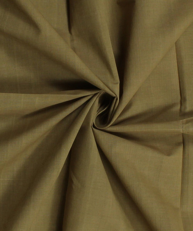 khaki brown mangalgiri handloom cotton fabric