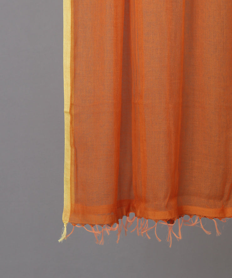 Solid orange woven stole