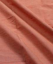handwoven orange mangalagiri cotton fabric