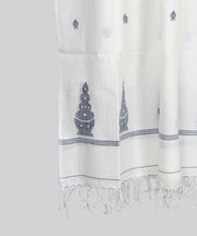 Off White Cotton Handloom Jamdani Stole