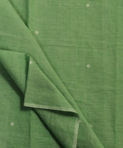 light green jamdani handloom cotton fabric