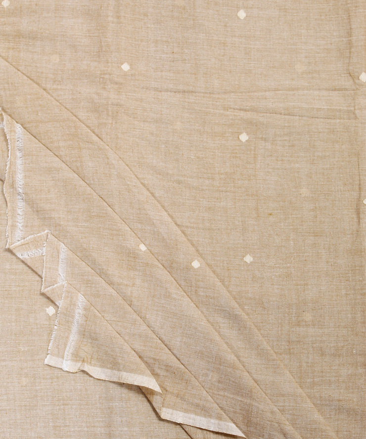 light brown handloom muslin jamdani fabric
