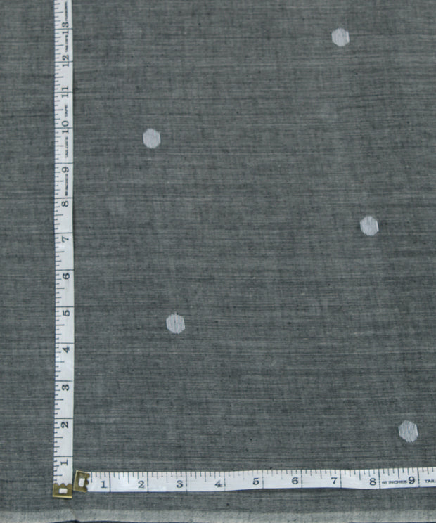 dark grey handloom muslin jamdani fabric