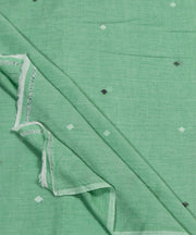 light green muslin jamdani handloom fabric