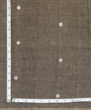 dark brown handloom muslin jamdani fabric