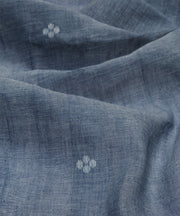 light grey muslin jamdani handloom fabric