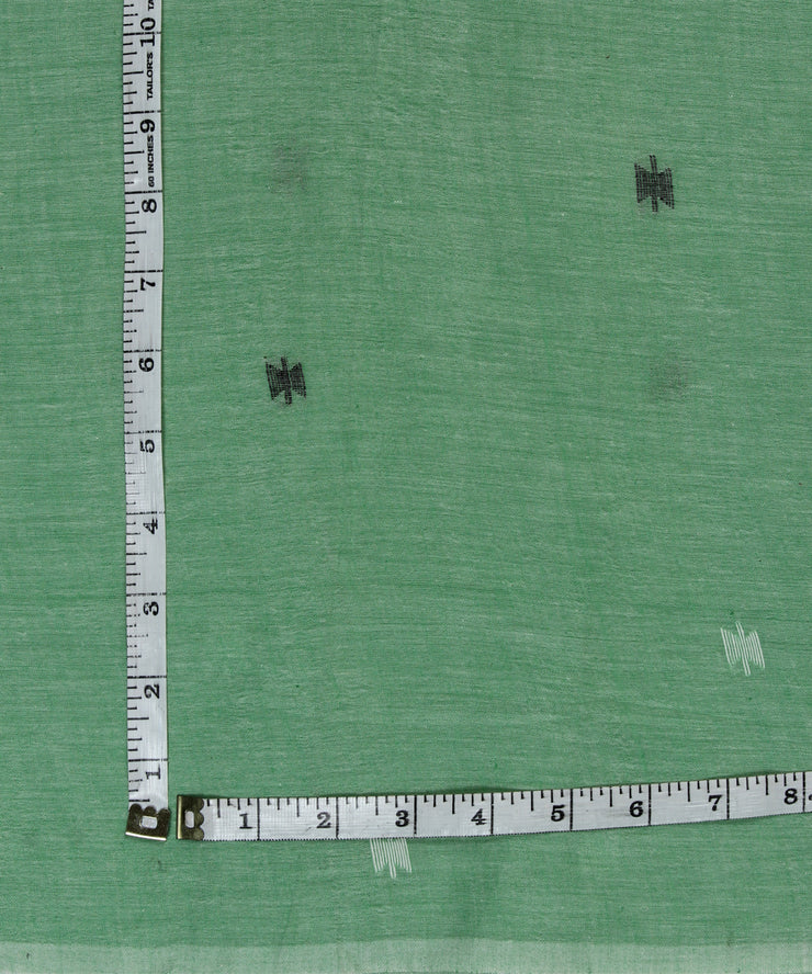 handloom light green muslin jamdani fabric